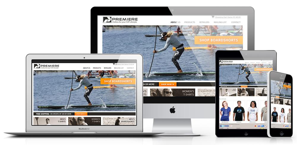 Premiere Paddlesurf Web Design